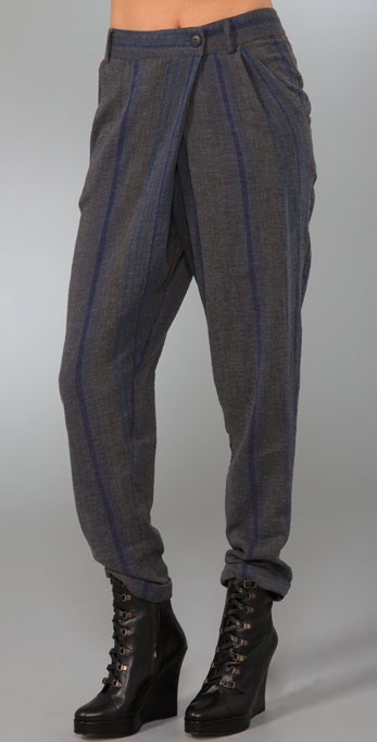 Charlotte Ronson Overlapped Cuff Pants