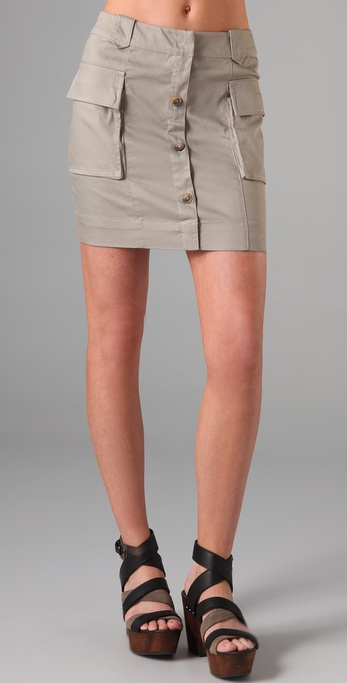 Charlotte Ronson Button Front Skirt