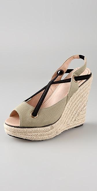 Charlotte Ronson Frances Bean Canvas Wedge Sandals