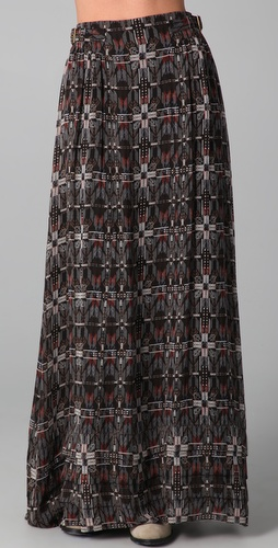 Charlotte Ronson Imperial Plaid Maxi Skirt