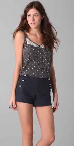 Charlotte Ronson Seaside Polka Dot Cami
