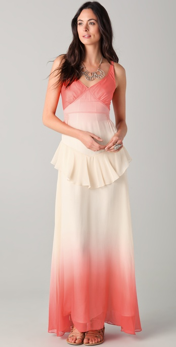 Charlotte Ronson Ombre Maxi Dress