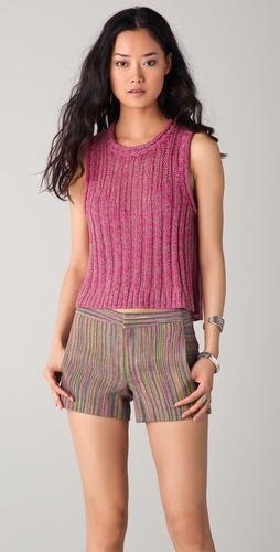 Charlotte Ronson Hi / Lo Sweater Tank