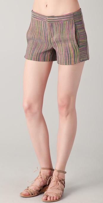 Charlotte Ronson Multi Stripe Shorts