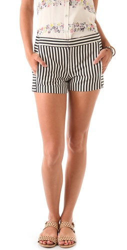 Charlotte Ronson Sailor Stripe Shorts