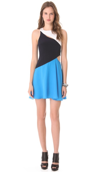 Charlotte Ronson Wave Dress with Cutouts