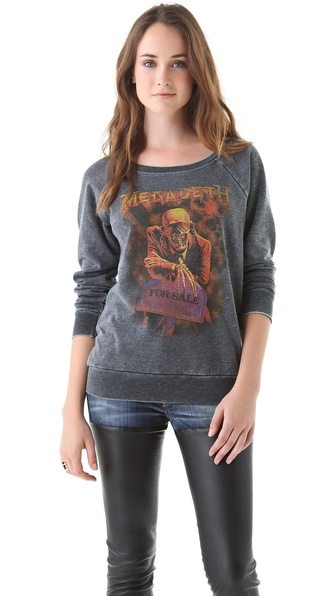 Chaser Megadeth Raglan Sweatshirt