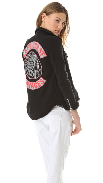 Chaser Savages Fleece Moto Jacket