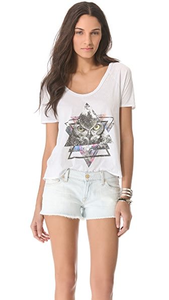 Chaser Galactic Owl Pleat Back Tee