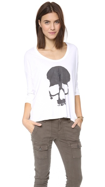 Chaser Lightning Skull Long Sleeve Tee