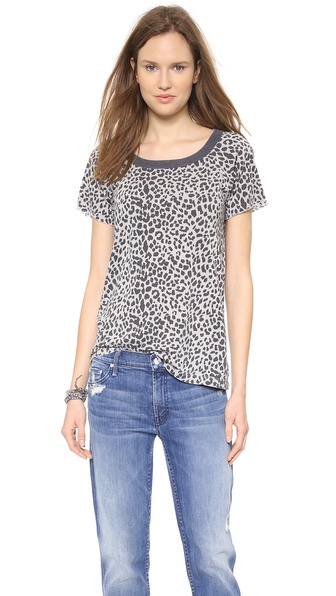 Chaser Leopard Print Open Back Tee