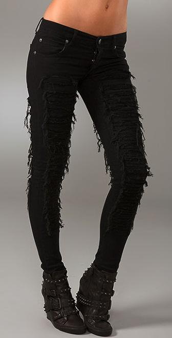 Cheap Monday Narrow Low Waist Skinny Jeans