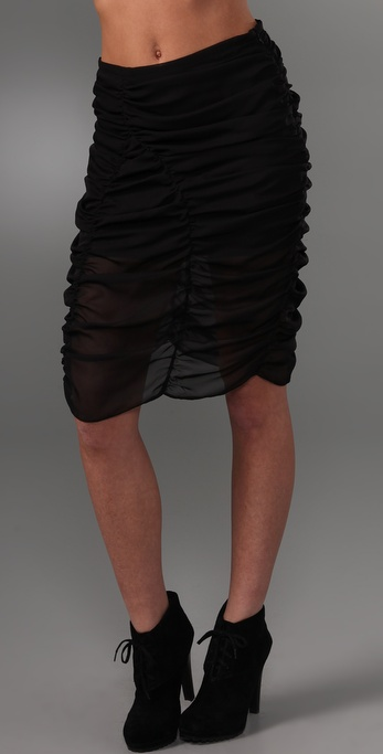 Cheap Monday Ruched Skirt