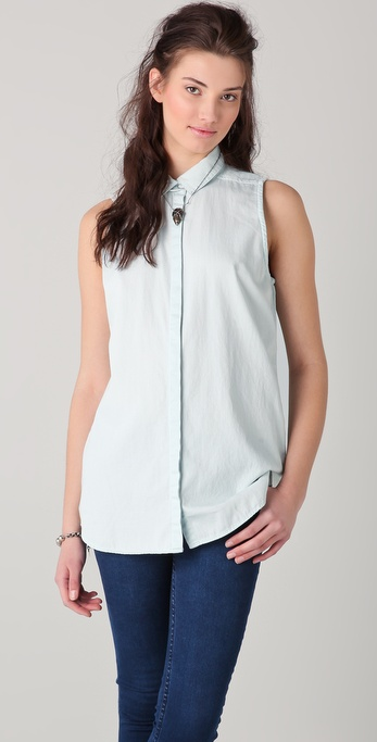 Cheap Monday Colleen Denim Shirt