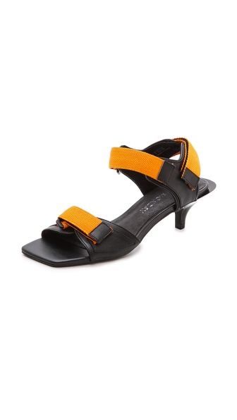 Cheap Monday Kitten Heel Velcro Sandals