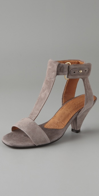 Chie Mihara Shoes Fresita Suede T Strap Sandals