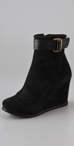 Chie Mihara Shoes Pizca Suede Wedge Booties