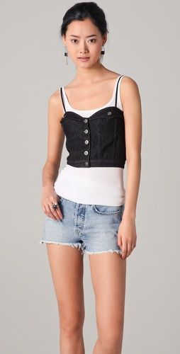 Chloe Sevigny for Opening Ceremony Jean Jacket Bustier Top at Shopbop.com