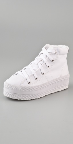 Chloe Sevigny for Opening Ceremony Canvas Platform Sneakers