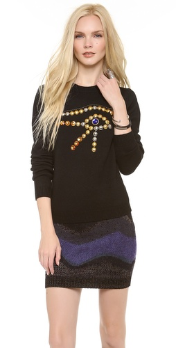 Chloe Sevigny for Opening Ceremony Eye Embellishment Sweater at Shopbop / East Dane