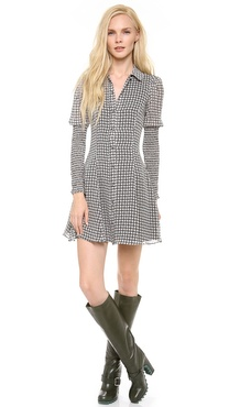 Chloe Sevigny for Opening Ceremony Smocked Sleeve Dress