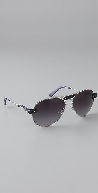18904a85d0dd Chloe Tamaris Aviator Sunglasses With Leather Trim « Heritage Malta