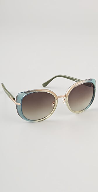 Chloe Amaryllis Cats Eye Sunglasses