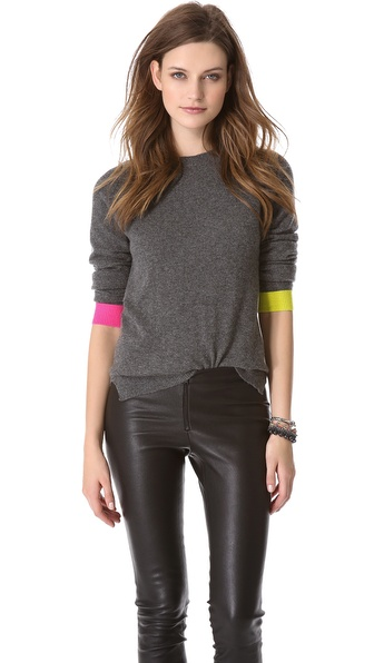 Chinti and Parker Contrast Cuff Sweater