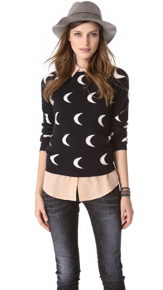 Chinti and Parker Moon Intarsia Sweater