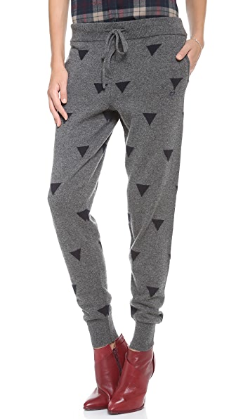 Chinti and Parker Triangle Intarsia Pants