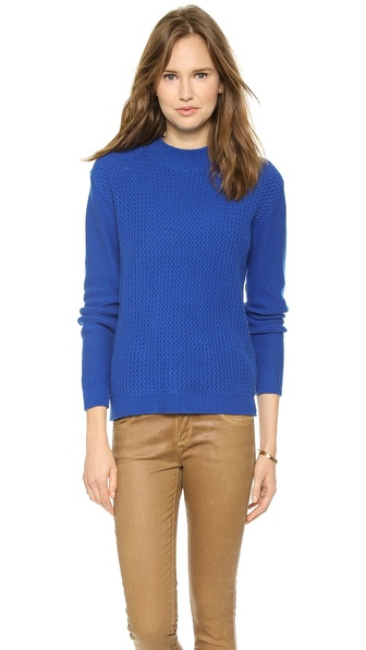 Chinti and Parker Basket Weave Cashmere Sweater