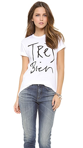 Chrldr Tres Bien T-Shirt - White