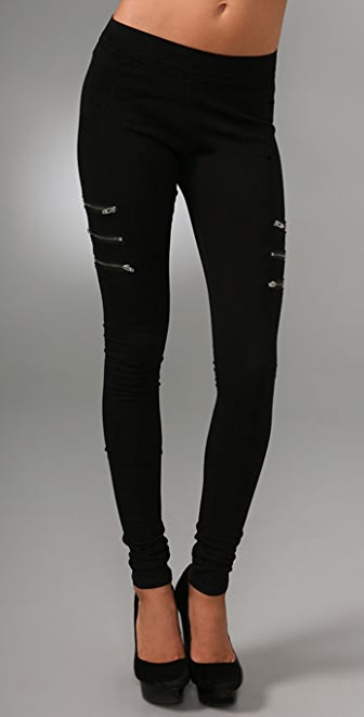 CHARLEY 5.0 3 Way Zip Denim Leggings