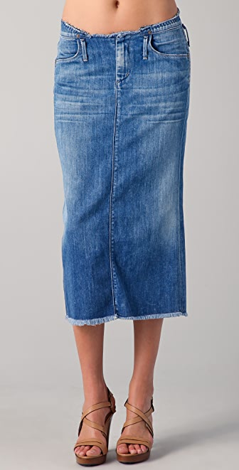 citizens of humanity tangier denim skirt shopbop save up