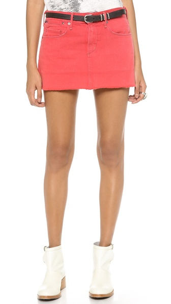 Citizens Of Humanity The Daria Miniskirt - Poppy Red at Shopbop / East Dane