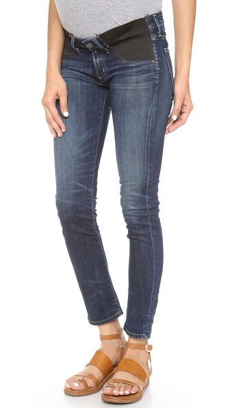 Citizens Of Humanity Racer Low Rise Maternity Skinny Jeans - Patina at Shopbop / East Dane