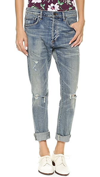 Citizens of Humanity Corey Straight Leg Ripped Jeans