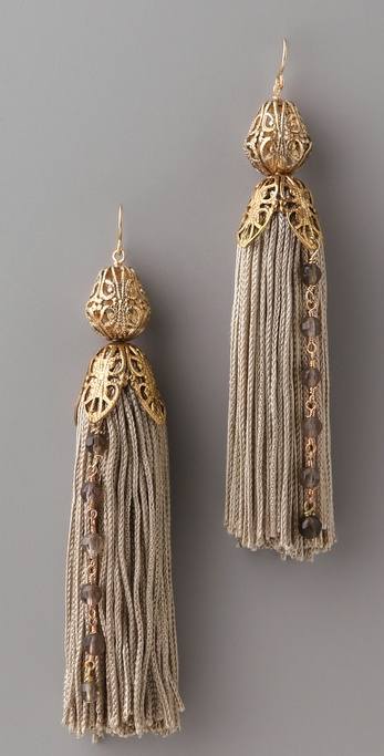 Citrine by the Stones Tassel Rosary Earrings