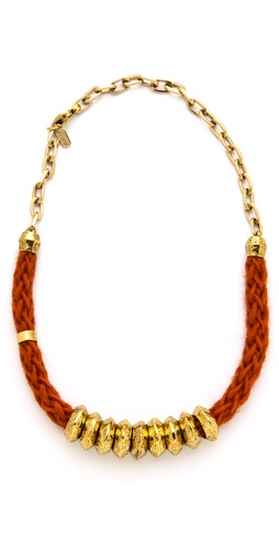 Citrine by the Stones Orange Hemp Necklace