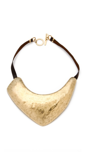 Citrine by the Stones Sipan Bib on Leather Necklace