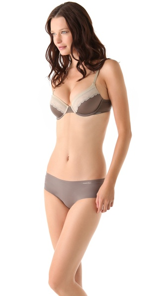 Calvin Klein Underwear Tonal Roses Demi Bra