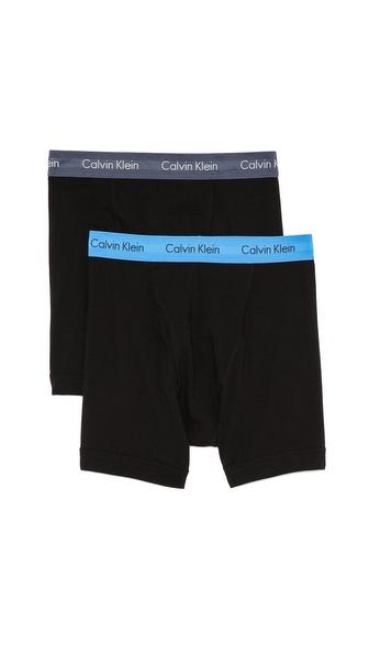 Calvin Klein Underwear 2 Pack Cotton Boxer Briefs