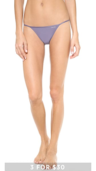 Calvin Klein Underwear Sleek String Bikini Briefs