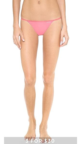Calvin Klein Underwear Sleek String Bikini Briefs