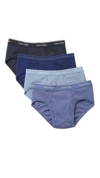 Calvin Klein Underwear 4 Pack Low Rise Briefs
