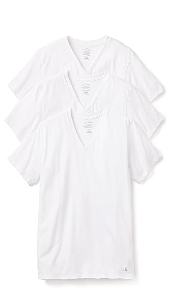 Calvin Klein Underwear 3 Pack V Neck T-Shirts