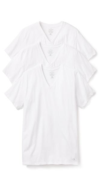 Calvin Klein Underwear 3 Pack V Neck T-Shirts