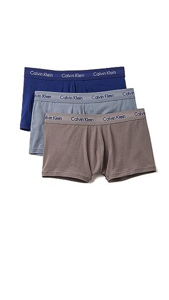 Calvin Klein Underwear 3 Pack Low Rise Trunks
