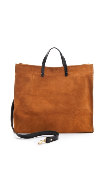 CLARE VIVIER Suede Tote
