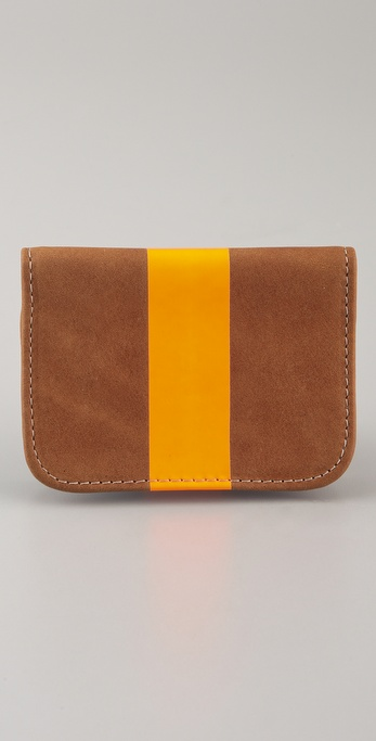 CLARE VIVIER Neon Stripe Card Case